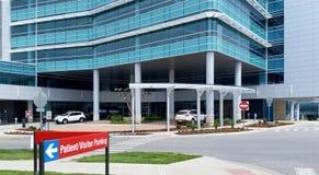 Krankenhaus-Eingang Stockfoto