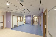 Krankenhaus-Flur Lizenzfreies Stockbild