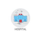 Krankenhaus-Gebäude behandelt ärztliche Behandlungs-Ikone Clinic Lizenzfreie Stockfotos