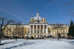 Krankenhaus-Kirche von Tsarevich Demetrius am Golitsyn-Krankenhaus Lizenzfreie Stockbilder