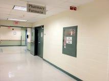 Krankenhaus-Korridor Stockfoto