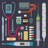 Krankenhaus - medizinische Instrumente stock abbildung