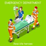Krankenhaus22 menschen isometrisch Stockbild