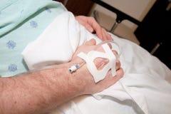 Am Krankenhaus: Männlicher Patient Lizenzfreie Stockbilder