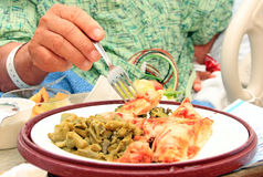 Krankenhaus-Nahrung stockfoto