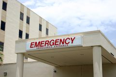 Krankenhaus-Noteingang Lizenzfreie Stockfotos
