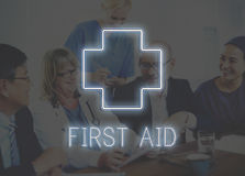 Krankenhaus-Quergesundheits-Behandlungs-Ikonen-Grafik-Konzept Lizenzfreie Stockfotografie