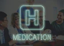 Krankenhaus-Quergesundheits-Behandlungs-Ikonen-Grafik-Konzept Stockfotografie