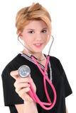 Krankenhaus Voluteer Hilfe des Süßigkeitstriper-AKA Lizenzfreies Stockfoto