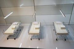 Krankenhausbetten Stockbild
