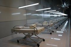 Krankenhausbetten Stockfoto