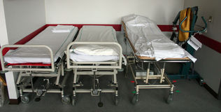 Krankenhausbetten Stockfotos