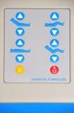 Krankenhausbettkontrollen Stockbilder