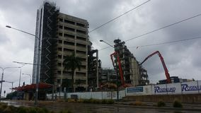 Krankenhausdemolierung Gold Coast alt Lizenzfreie Stockbilder