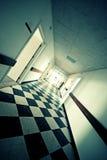 Krankenhauskorridor Stockfotografie