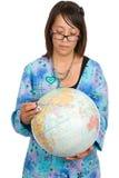 Krankenschwester, die Gesundheit der Welt überprüft Lizenzfreie Stockfotografie