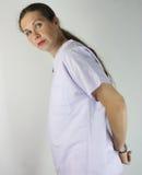 Krankenschwester festgehalten stockbilder