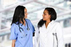 Krankenschwester im Krankenhaus Stockbilder