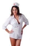Krankenschwester im weißen Mantel Lizenzfreie Stockfotos