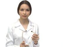 Krankenschwester mit phonendoscope Lizenzfreie Stockbilder