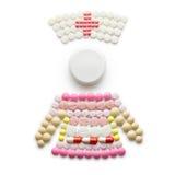 Krankenschwester mit Pillen Stockbild