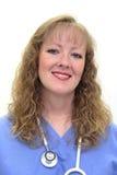 Krankenschwester scheuert innen sich Lizenzfreie Stockfotos
