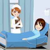 Krankenschwester-und Frauen-Patient Lizenzfreies Stockfoto