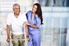 Krankenschwester und Patient lizenzfreie stockbilder