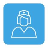 Krankenschwesterikone im flachen Design Lizenzfreies Stockbild
