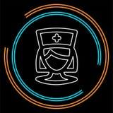 Krankenschwesterikone, medizinische Behandlung des Vektors, Krankenhaussymbol stock abbildung