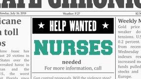 Krankenschwesterjobangebot stock abbildung