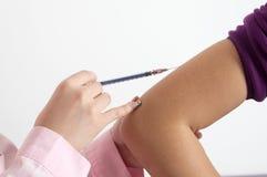 Nahaufnahmeschutzimpfung Stockbilder