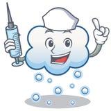 Krankenschwesterschneewolken-Charakterkarikatur Lizenzfreie Stockbilder