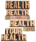 Krankenversicherung und Sorgfalt Lizenzfreies Stockfoto