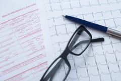 Krankenversicherungs-Antragsformular Stockbilder