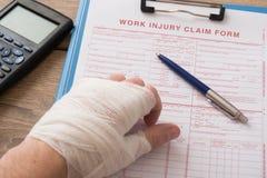 Krankenversicherungs-Antragsformular Lizenzfreies Stockfoto