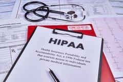 Krankenversicherungs-Beweglichkeit und Verantwortlichkeits-Tat lizenzfreies stockfoto