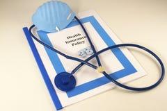 Krankenversicherungs-Politik Lizenzfreie Stockfotografie