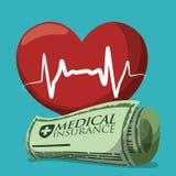 Krankenversicherungsdesign Lizenzfreies Stockfoto