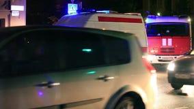 Krankenwagen auf Straße Stockfotos