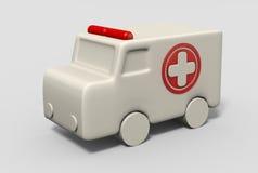 Krankenwagen 3D Lizenzfreie Stockfotos