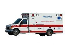 Krankenwagen getrennt auf Weiß Lizenzfreies Stockbild