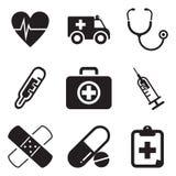 Krankenwagen-Ikonen Lizenzfreies Stockbild