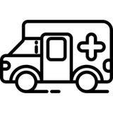 Krankenwagen-Ikonen-Vektor vektor abbildung