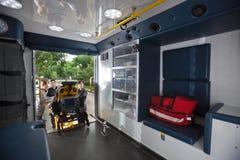 Krankenwagen-Innenraum Lizenzfreies Stockfoto