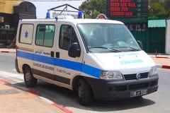 Krankenwagen, Notfall in Sousse Tunesien lizenzfreie stockfotografie