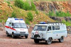 Krankenwagen- und Sicherheitsfahrzeuge Lizenzfreies Stockbild