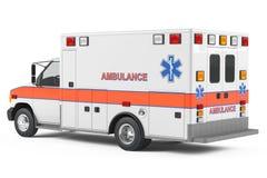 Krankenwagenautorückseite Lizenzfreies Stockbild