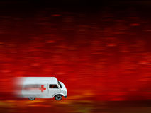 Krankenwagenhintergrund Lizenzfreies Stockfoto