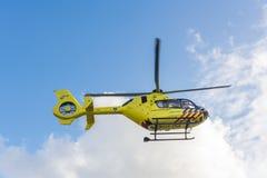 Krankenwagenhubschrauber Medizinische Luft-Unterstützung Stockfotografie